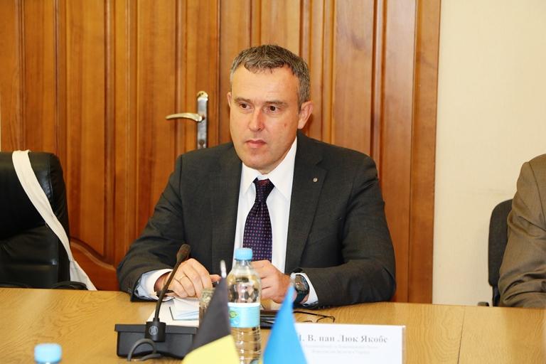 Надзвичайний і Повноважний Посол Королівства Бельгія в Україні Люк Якобс
